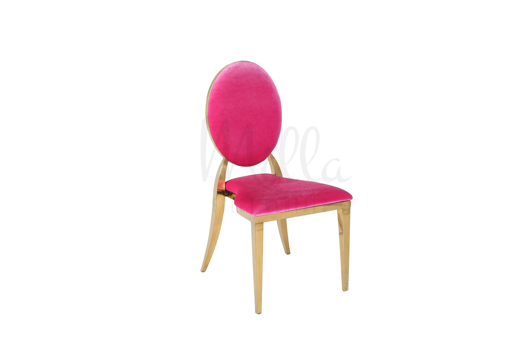 Fuchsia/Gold Washington Chair