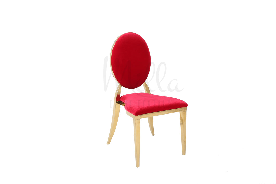 Red/Gold Washington Chair
