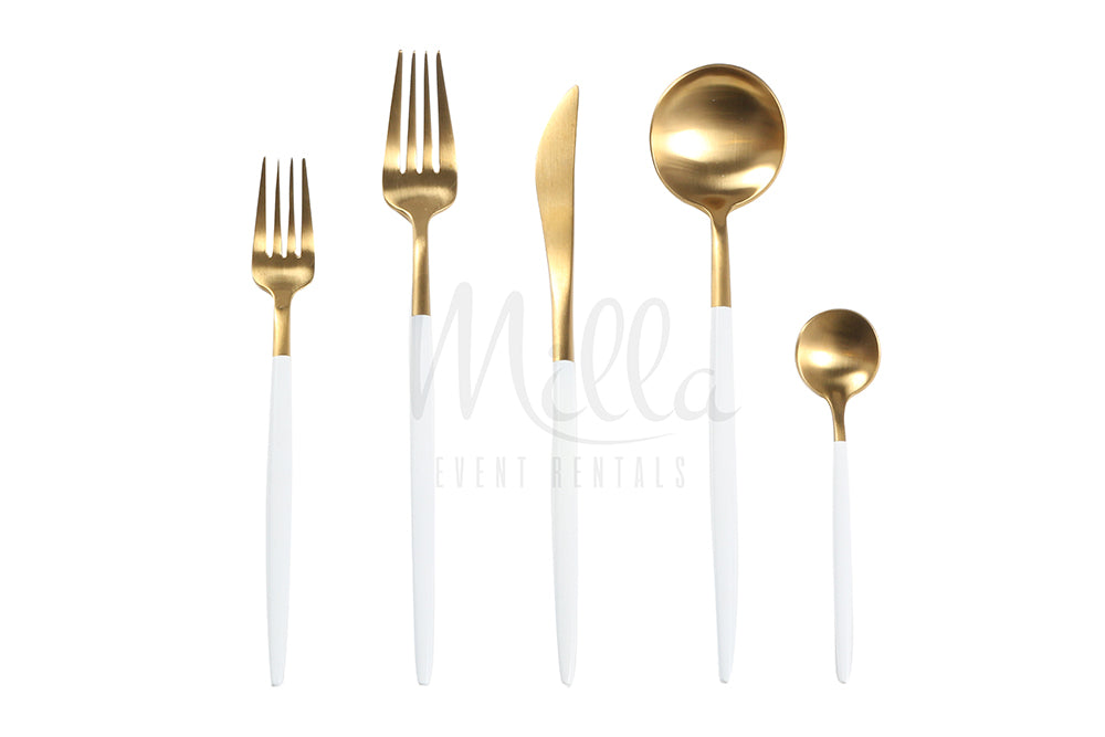 Goa White Gold Flatware
