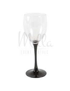Black Steam Wine Glass