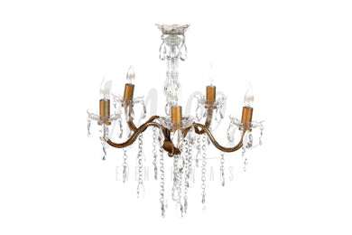 5 Light Gold Chandelier