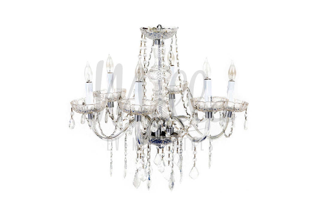 6 Light Clear Chandelier