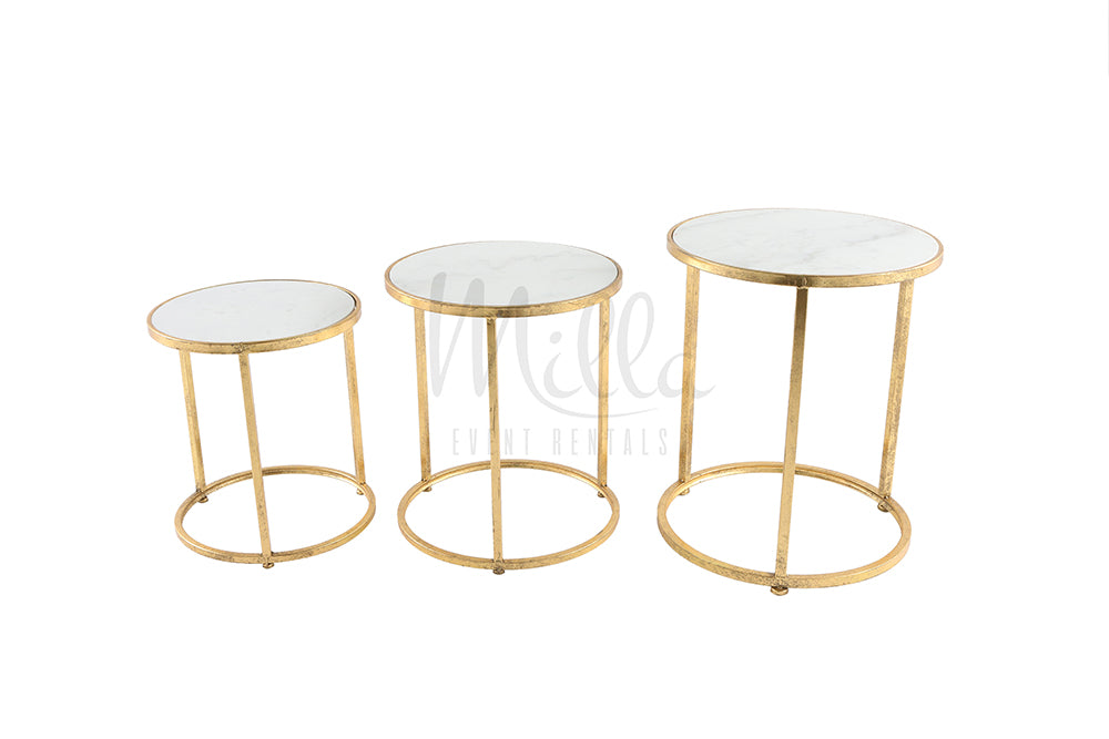 Waldorf Marble Accent Table