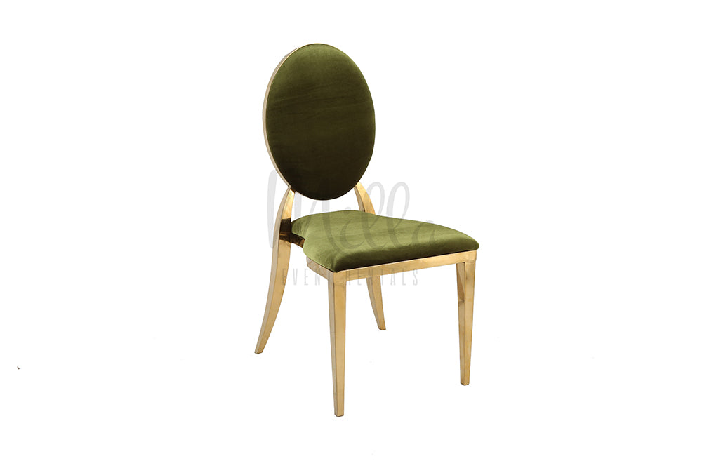 Olive Green/Gold Washington Chair