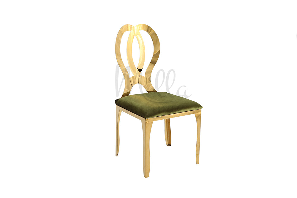 Gold Infiniti Chair Olive Green