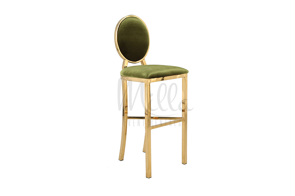 Olive Green/Gold Washington Barstool