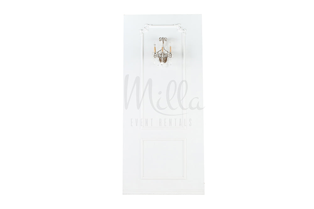 4x9 White Wall Panel (Sconce)