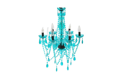 Turquoise 6 Light Chandelier