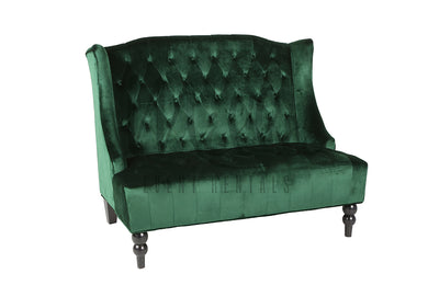 Green Becah Loveseat Emerald