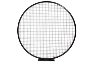Black Round Grid Backdrop 6'