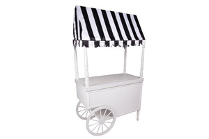 Black and White Stripe Cart