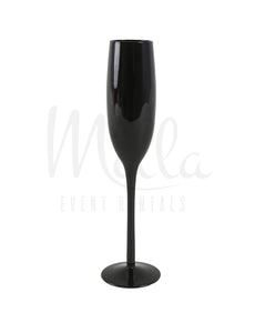 Black Champagne Glass
