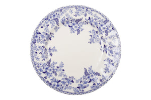 French Country Blue and White Dinner Plate