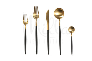 Goa Black Gold Flatware