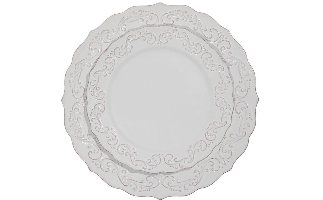 Antique Scroll Dinner Plate