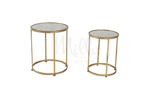 Gold Modern Waldorf Accent Table