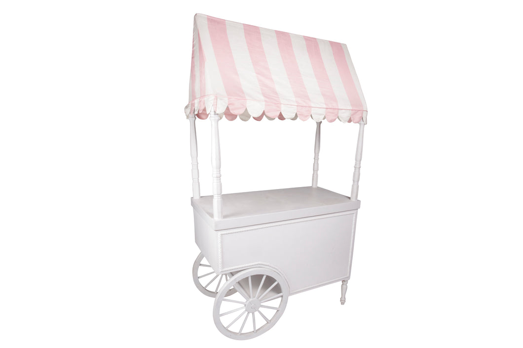 Pink and White Stripe Cart