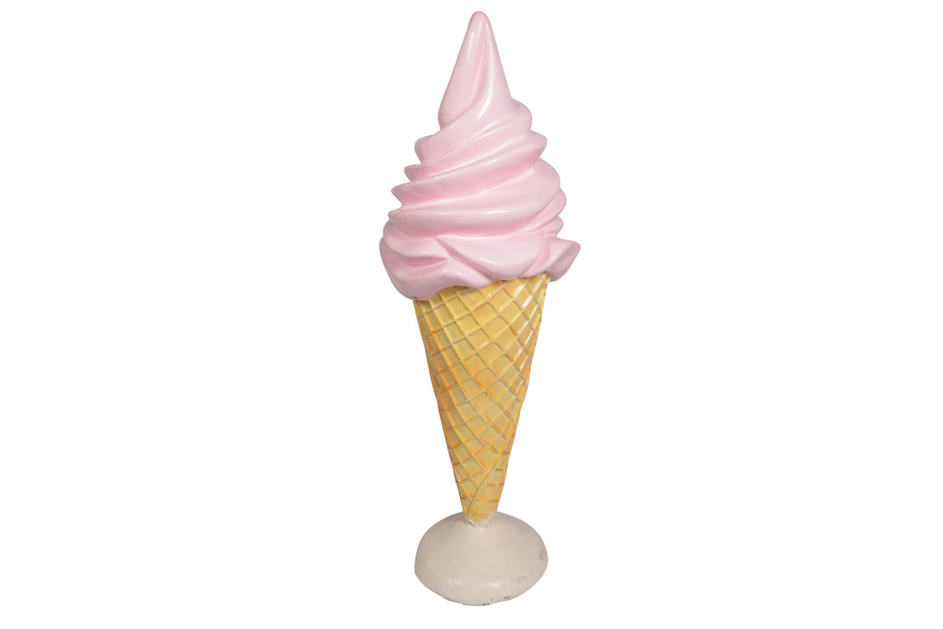 Pink Soft Serve Ice Cream