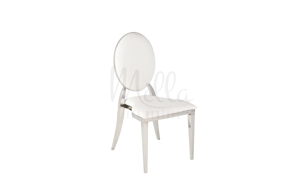 White/Silver Washington Chair