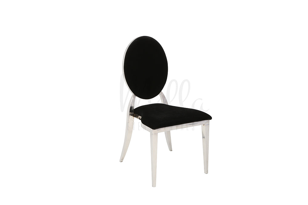 Black/Silver Washington Chair