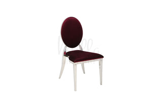 Burgundy/Silver Washington Chair