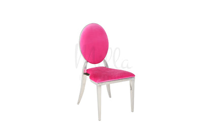 Fuchsia/Silver Washington Chair