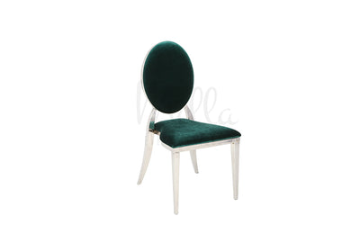 Emerald Green/Silver Washington Chair