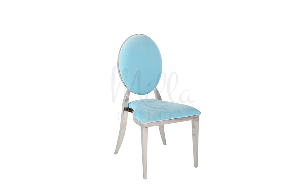 Light Blue/Silver Washington Chair