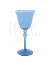 Blue Stella Wine Glass