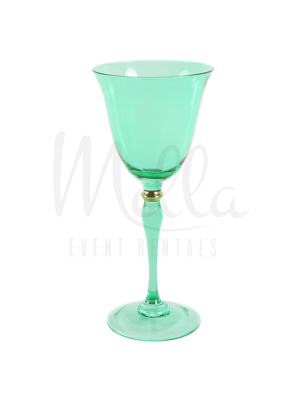 Green Stella Wine Glass