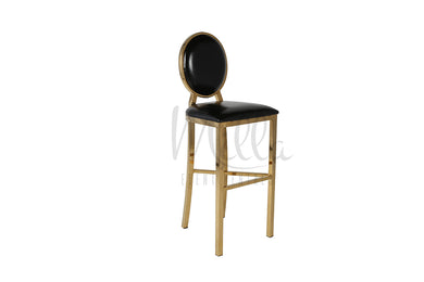 Black/Gold Washington Barstool