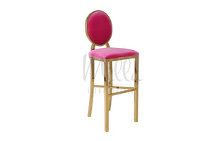 Fuchsia/Gold Washington Barstool