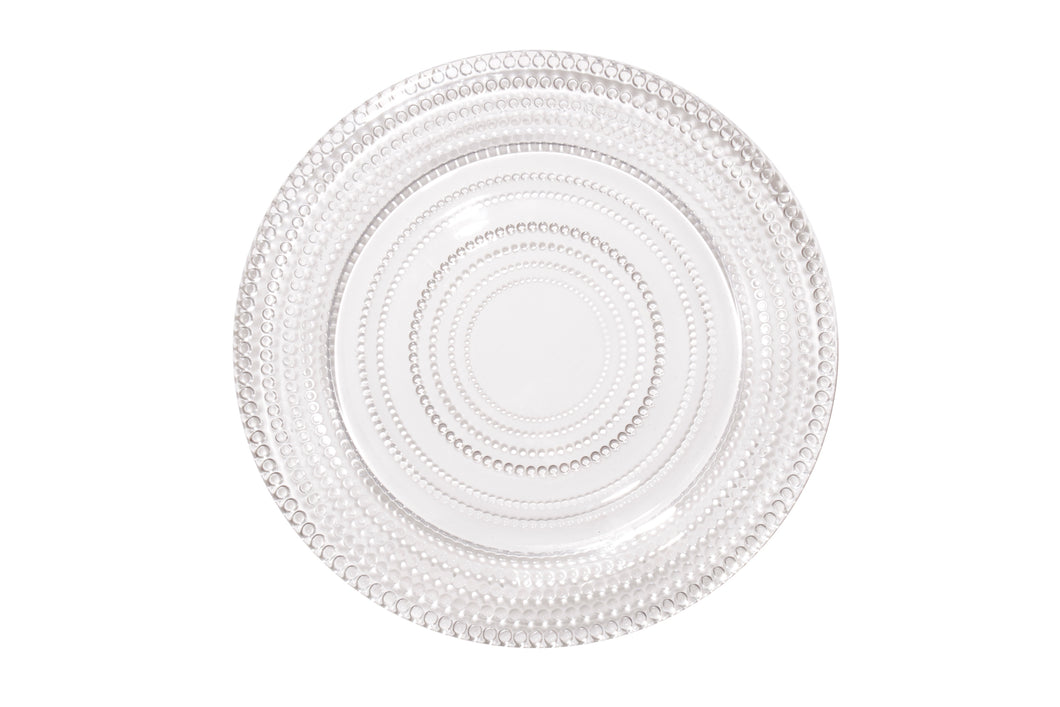 Drop Clear Dinner Plate