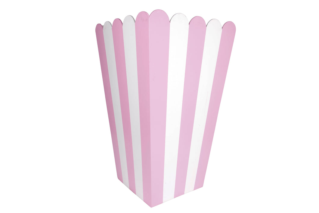 5' Pink and White Pop Corn Box