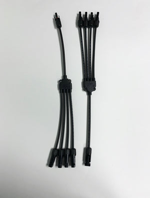 PV Solar Cable With MC4 Connector 4 to 1
