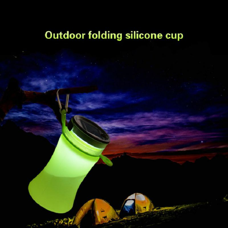 550ml Solar energy water bottle camping led Night light