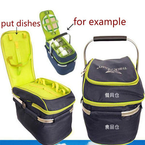 Portable Folding Large Picnic Bag Basket
