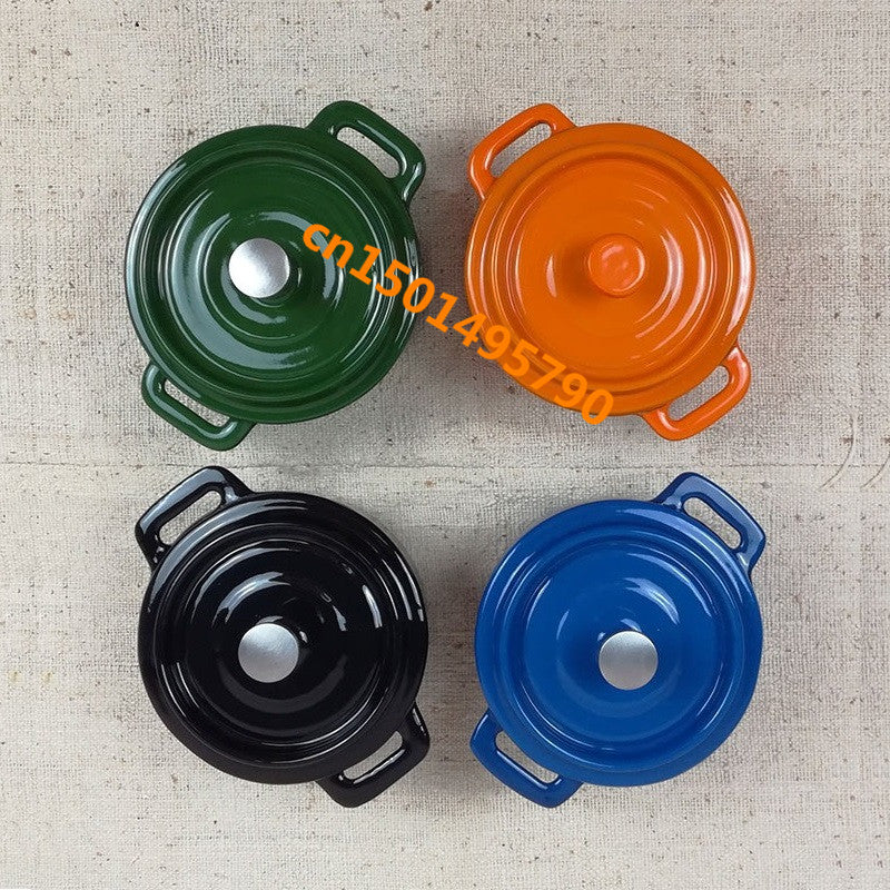 Cast iron oven Mini enamel pot