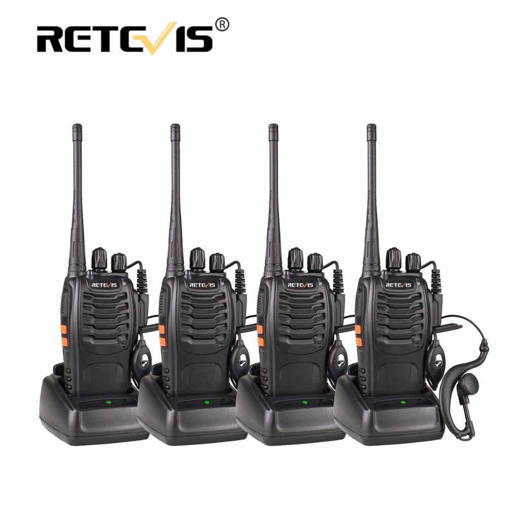 4-Piece Portable Walkie Talkie Set