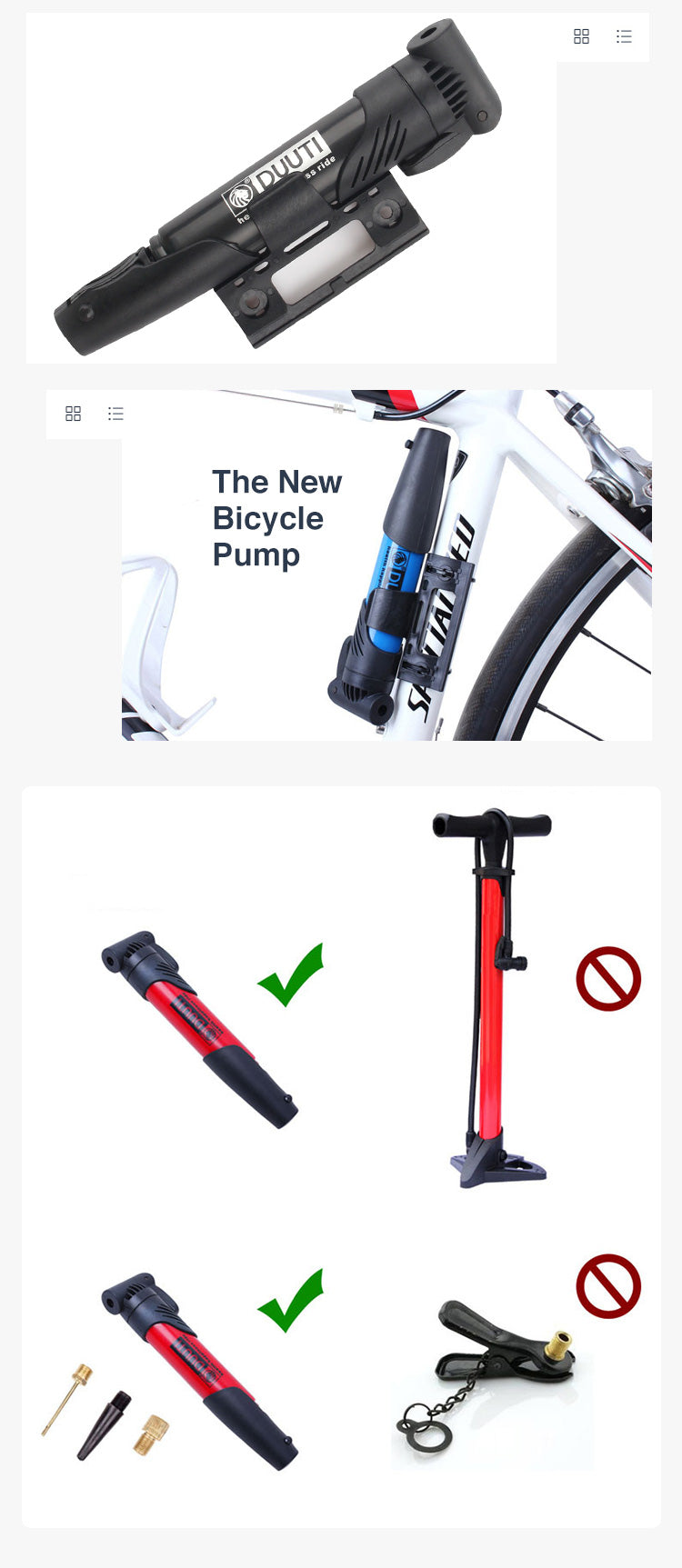 Mini Portable Bicycle Air Pump