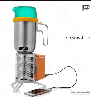 Stainless Steel Stove with Rechargeable Device