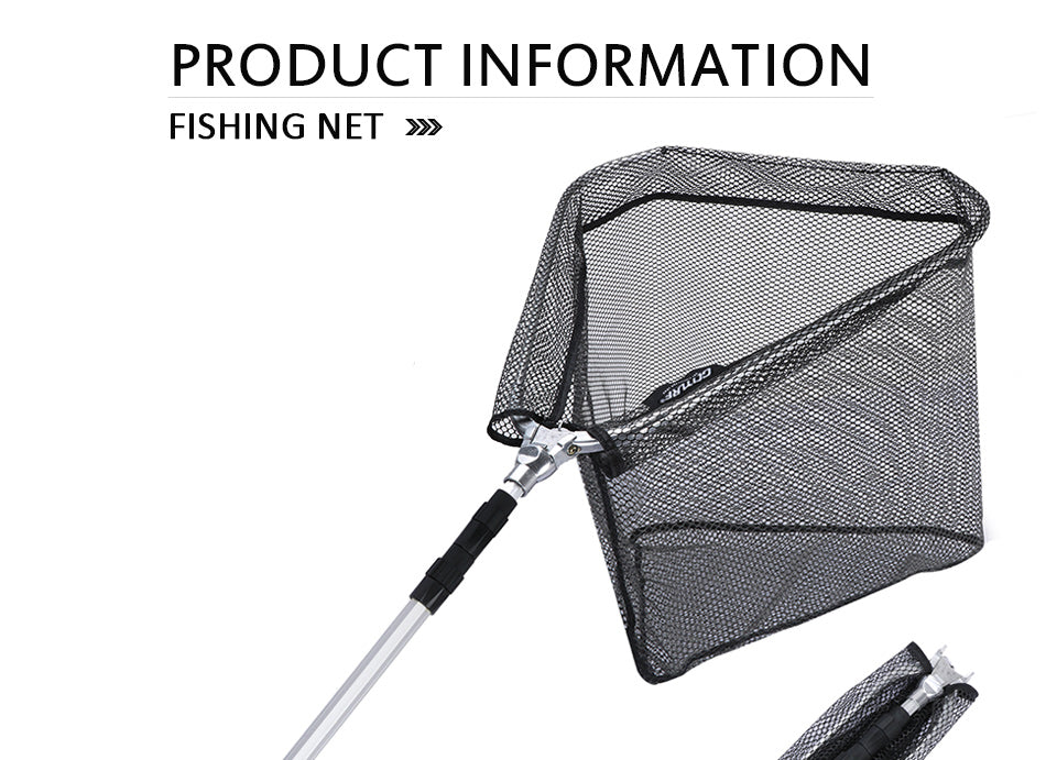 Fishing Net with Extending Telescoping Pole Handle