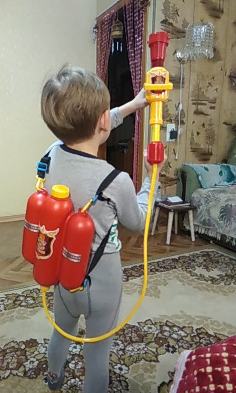 Backpack Fireman Toy Water Gun