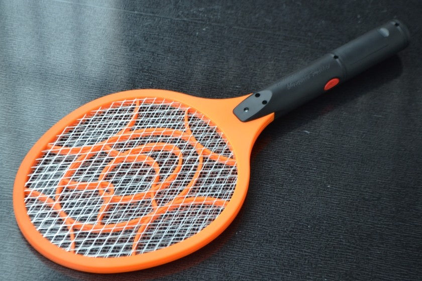 3 Layers Net Dry Cell Hand Racket Electric Swatter