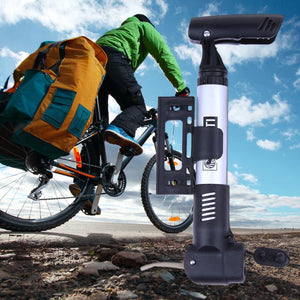 Mini Portable Bike Bicycle Metal Air Pump
