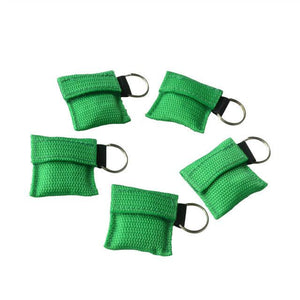 50Pcs/Pack Mini CPR Resuscitator Mask With Keychain