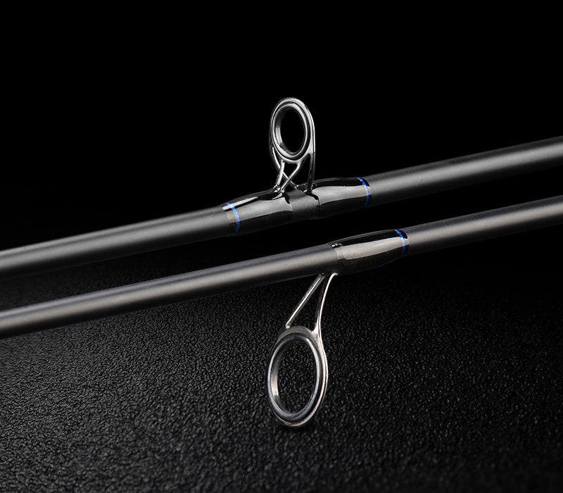 Ultralight Carbon Spinning Casting Fishing Rod with 2 Rod Tips