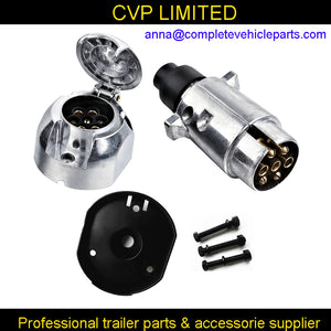 7 Pin trailer connector metal round trailer socket plug
