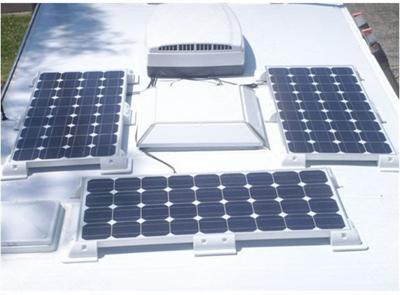 1sets/Lot White color ABS Solar Panel Mounting Bracket Kits