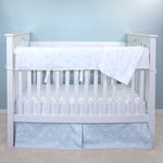Blue Polka Dot Crib Rail Guards (Set of 2)